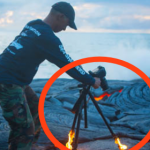 Daredevil photographer Dives Into BURNING LAVA To Get The Perfect Shot… Wow!